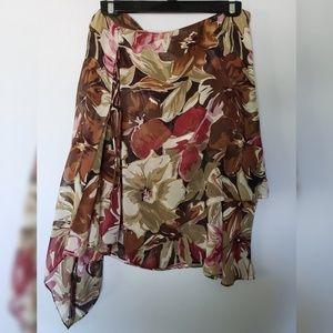 Gorgeous layered, silk Express skirt